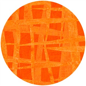 P&B Textiles, Always Blooming, Woven Imprint Orange