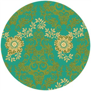 P&B Textiles, Daydreams, Wallpaper Teal