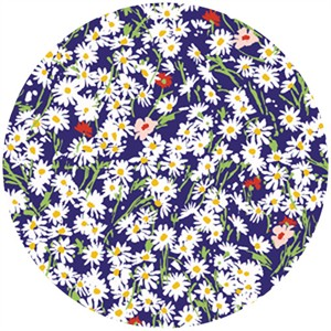 P&B Textiles, Garden Party, Daisies Navy