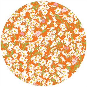 P&B Textiles, Garden Party, Daisies Orange