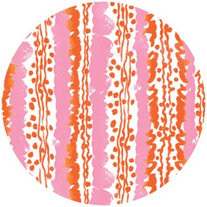 P&B Textiles, Garden Party, Garden Stripe Orange