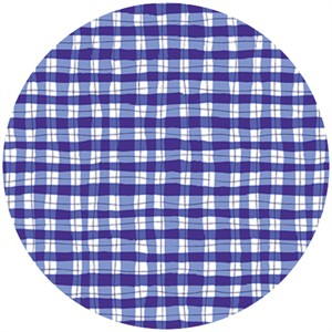 P&B Textiles, Garden Party, Painted Gingham Blue