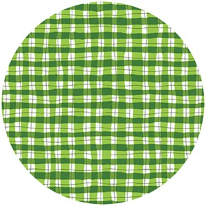 P&B Textiles, Garden Party, Painted Gingham Green