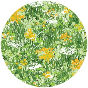 P&B Textiles, Garden Party, Wildflowers Yellow