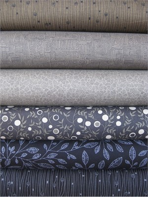 P&B Textiles, Modern Shadows, Earth in FAT QUARTERS 5 Total