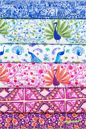 Michael Miller, Peacock Pavilion in FAT QUARTERS 6 Total