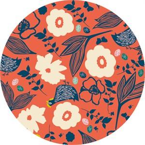 Elizabeth Grubaugh for Blend, Garden Roost, Pecking Hens Coral