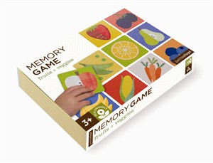 Petit Collage Memory Game Fruits and Veggies