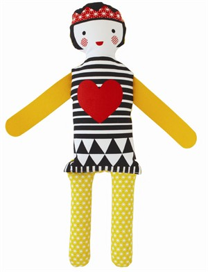 Petit Collage Modern Dolls Queen of Hearts