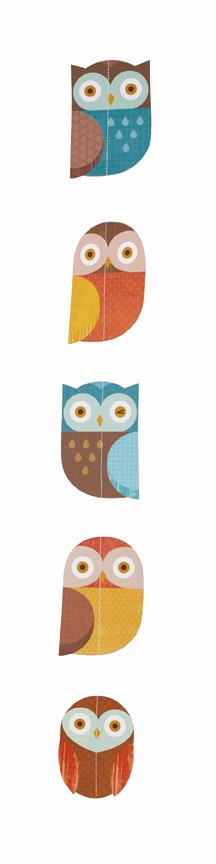 Petit Collage Strand Mobile Owl in the Family