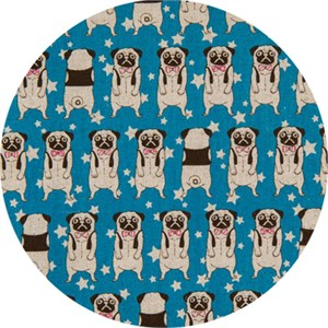 Japanese Import, CANVAS, Peculiar Pugs Blue
