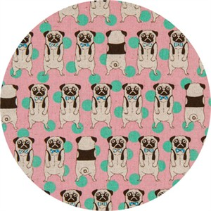 Japanese Import, CANVAS, Peculiar Pugs Pink