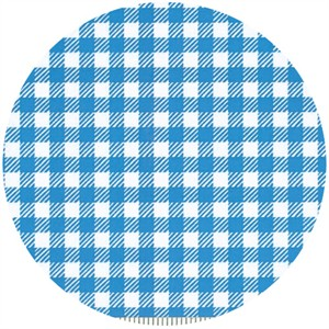 Penguin & Fish, Picnic Pals, Organic, Gingham Blue