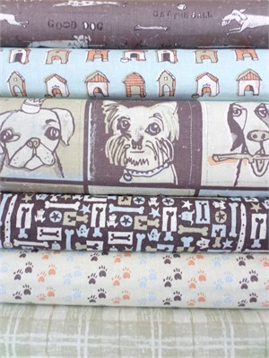 Peter Horjus, Doglandia, Brown in FAT QUARTERS 6 Total