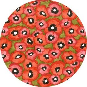 Laura Gunn for Michael Miller, Valencia, Petite Poppy Olive