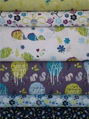 Phyllida Cozoneo, Enchanted Forest Entire Collection 6 FAT QUARTERS in Total (Pre-cuts)