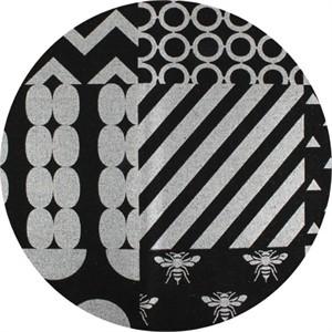 Echino, CANVAS METALLIC, Piece Black/Silver