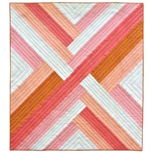 Pink Maypole Quilt Kit Featuring Mod Basics' Solids