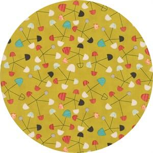 Jenn Ski for Moda, Ninja Cookies, Pinwheel Chartreuse