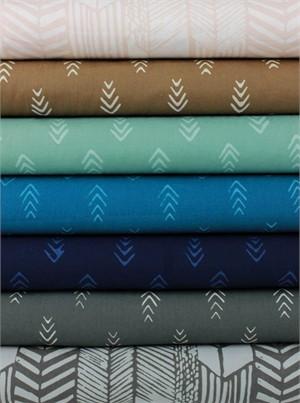 Hoffman Fabrics, Indah BATIKS, Pointed in FAT QUARTERS 7 Total