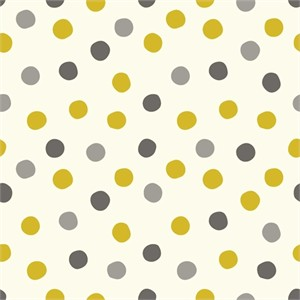 Birch Organic Fabrics, Mod Basics 3, Pop Dots Golden