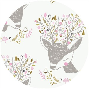 Camelot Fabrics, Hello, My Deer, Portrait White