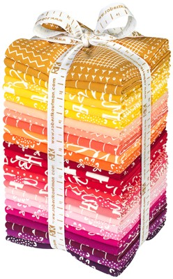Karen Lewis for Robert Kaufman, PRE-CUT Blueberry Park, Bright in FAT QUARTERS 25 Total