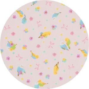 Cosmo Textiles, DOUBLE GAUZE, Pretty Parakeet Pink