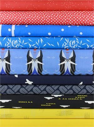 Fabricworm Custom Bundle, Primary Sea in FAT QUARTERS 10 Total