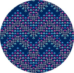 Amy Butler for Free Spirit, Soul Mate, Prismatic Navy