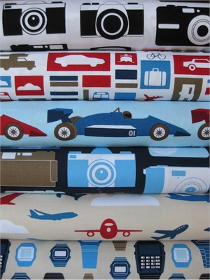 Print & Pattern, Boys Toys, Adventure in FAT QUARTERS 6 Total