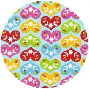 Print & Pattern, Ella FLANNEL, Heart A Flutter Bright