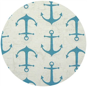 Premier Prints, HOME DEC, Anchors Coastal Blue (Slub)