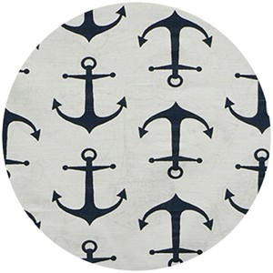 Premier Prints, HOME DEC, Anchors Navy (Slub)