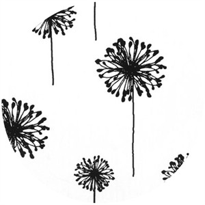 Premier Prints, HOME DEC, Dandelion White/Black