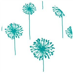Premier Prints, HOME DEC, Dandelion White/Turquoise