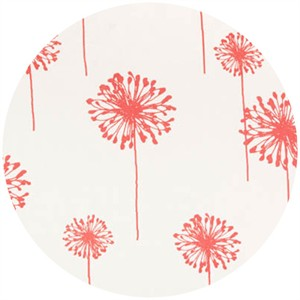 Premier Prints, HOME DEC, Dandelion White/Coral
