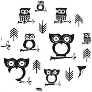 Premier Prints, HOME DEC, Hooty Black/White