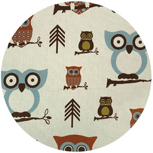 Premier Prints, HOME DEC, Hooty Village/Natural