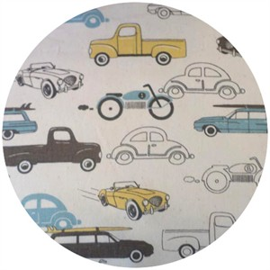 Premier Prints, HOME DEC, Retro Rides Cambridge/Natural