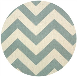 Premier Prints, Zig Zag Village Blue/Natural