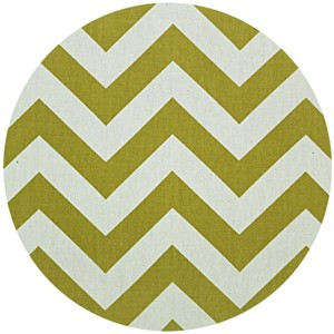 Premier Prints, Zig Zag Village Green/Natural