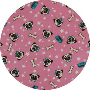 Cosmo Textiles, OXFORD, Pug Mug Pink