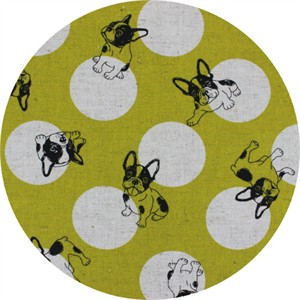 Japanese Import, CANVAS, Pup Dot Chartreuse
