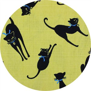 Japanese Import, DOBBY, Purrfect Posture Yellow