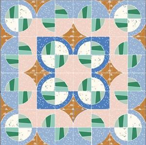 Charming Modern Fans Quilt Kit Featuring Birch Organic Fabrics