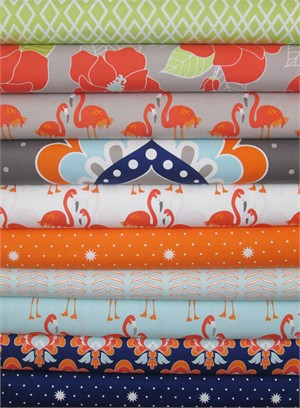 The Quilted Fish, Lula Magnolia in FAT QUARTERS 10 Total