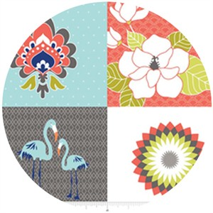 The Quilted Fish, Lula Magnolia, Lula Panel Gray