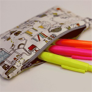 Tutorial: Quick Sew Pencil Pouch by Christina McKinney