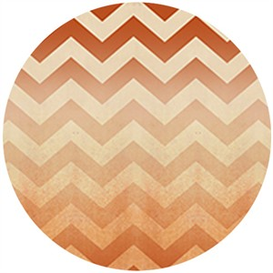 Quilting Treasures, Enjoy the Ride, Chevron Orange